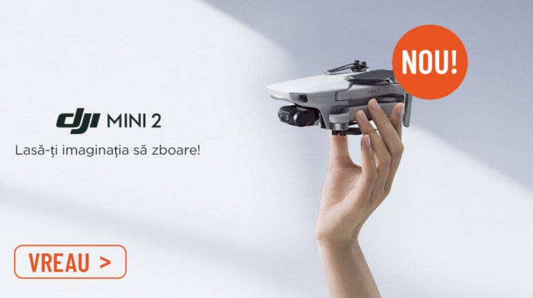 Drona DJI Mini 2 a ajuns in Romania